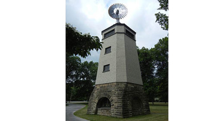 President James Garfield&#039;s widow, Lucretia, built this windmill to pump water to all floors of the family home in Mentor, Ohio.