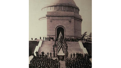 A crowd gathered for the dedication of the McKinley Memorial on Sept. 30, 1907, in Canton, Ohio.