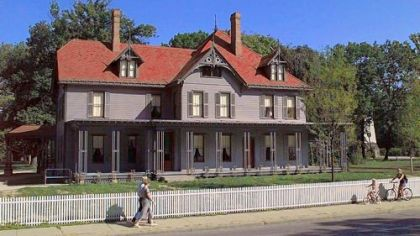 The James A. Garfield National Historic Site, Lawnfield, in Mentor, Ohio.