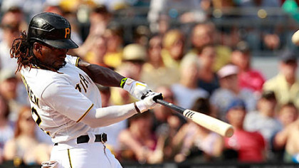 Andrew McCutchen zeroes in on his 13th home run of the season in the fourth inning Saturday at PNC Park == all the runs Brad Lincoln and the bullpen would need.