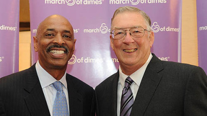 State Director of March of Dimes James Dennis and Kent Tekulve.