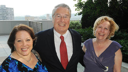 Valerie Golik, Jon Delano and Irene McTiernan.