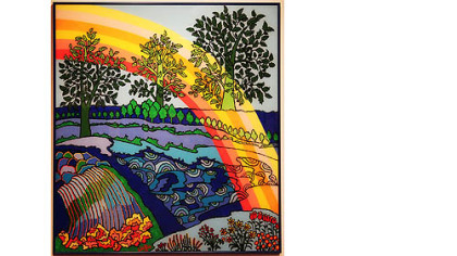 Watfa Midani&#039;s &quot;Rainbow Over My Garden.&quot;