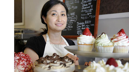 Sumi Chun, 49, at Sumi's Cakery in Squirrel Hill.