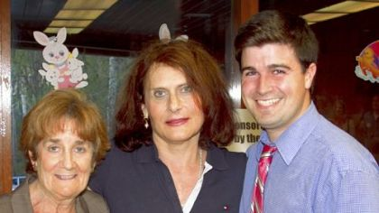 Gena Turner, center, with Judy O&#039;Connor, and Corey O&#039;Connor, councilman.