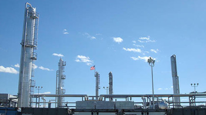 A gas processing facility in Houston, Pa.