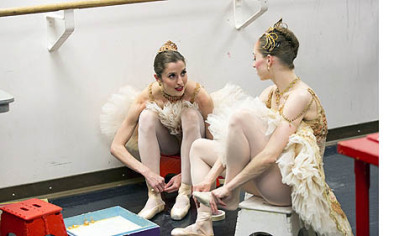 "Chartiers Valley High School grad Allison DeBona, left, is featured on the reality series ""Breaking Pointe."""