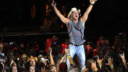"Country singer Kenny Chesney performs at Heinz Field as part of the ""Brothers of the Sun"" tour. The concert, along with the Three Rivers Regatta, attracted thousands this weekend to the city."