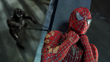 "A scene from the 2007 film ""Spider-Man 3"""
