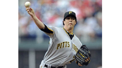 Jeff Karstens, who missed most of the first half of the season, earned his first win of 2012 Saturday with seven innings of work. He allowed four hits and struck out seven.