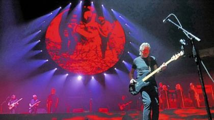 "Roger Waters performs ""The Wall"" at Consol Energy Center in September 2010."
