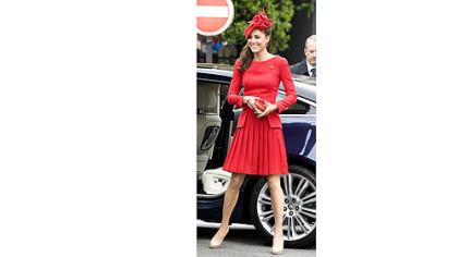 Kate Middleton in Alexander McQueen during Queen Elizabeth's diamond jubilee celebration last month. Expense so far this year for her work-related clothes: more than $50,000.