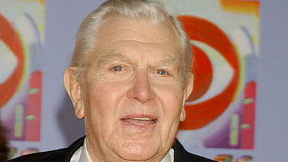 Andy Griffith arriving at an event commemorating CBS'S 75th anniversary two years ago.