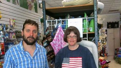 Brad Scheidmantel, manager, and Ginny Smiley, owner of Smiley's Pet Pad in Shadyside.