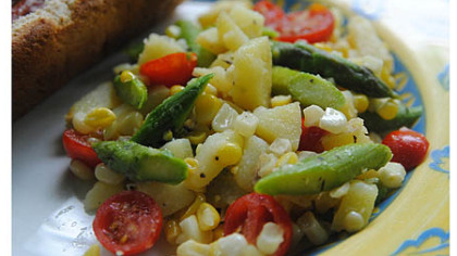 Warm Jersey Corn Salad