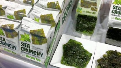 Crunchy seaweed snacks are giving chips a run for the money.
