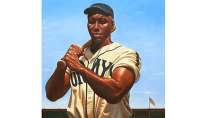 "This portrait of Josh Gibson is also part of ""We Are the Ship."""
