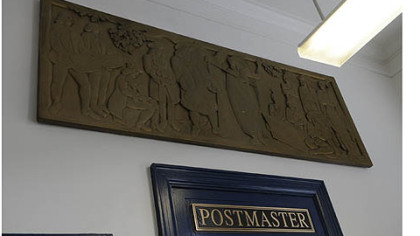 "The ""Treaty of William Penn and the Indians"" by Mildred Jerome hangs in the lobby of the Turtle Creek post office."