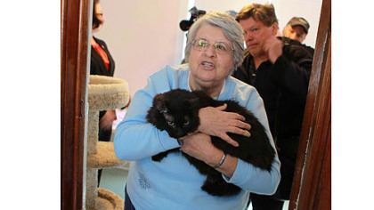 Sister Marijon Binder of Cats Are Purrson's Too has been taking care of Boots, who would have been put to death under her late owner's will.