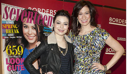 Miranda Cosgrove, left, and Ann Shoket Editor-in-chief of Seventeen magazine.