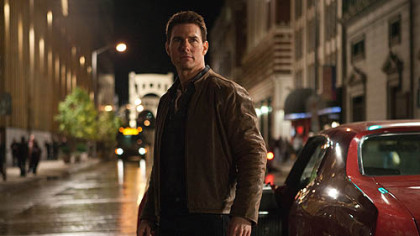 "Tom Cruise in ""Jack Reacher,"" with Pittsburgh as the backdrop. Paramount Pictures celebrated the star's 50th birthday Tuesday by releasing a preview of the film, due out in December."