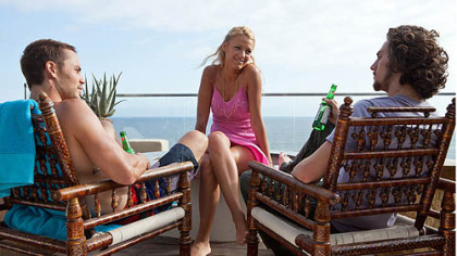 "Taylor Kitsch, Blake Lively and Aaron Johnson in ""Savages."""