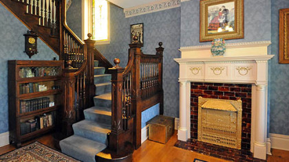The foyer in this five-bedroom home in Observatory Hill, which was built in 1905.