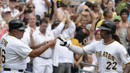 Andrew McCutchen leads baseball with a .362 batting average.