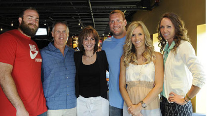 Brett Keisel, Ken and Brenda Roethlisberger, Ben and Ashley Roethlisberger and Carlee Rothlisberger.