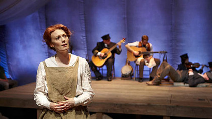 "Monica West portrays Ilse in ""Eastland: A New Musical"" at Lookingglass Theatre Company in Chicago."