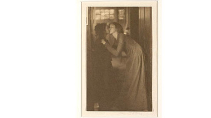 """The Kiss,"" a 1904 platinum print by American Clarence H. White (1871-1925), is among artworks promised to  Carnegie Museum."