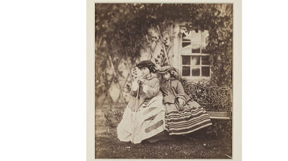 """The Princess Royal and Princess Alice,"" an 1855 salt print by British artist Roger Fenton (1819-1869) is among promised gifts to Carnegie Museum."