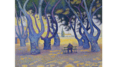 """Place des Lices, St. Tropez,"" by Paul Signac."