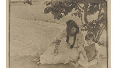 """The Picture Book,"" by Gertrude Kasebier."