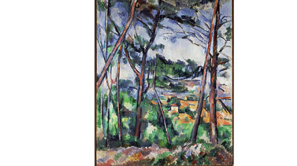 """Landscape Near Aix, The Plain of the Arc River,"" by Paul CFFDzanne."