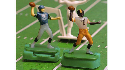 Norman Sas, the creator of these Electric Football toys, died June 28. He was 87.