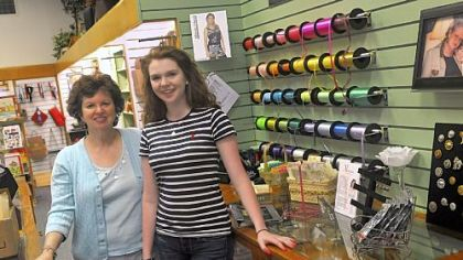 Ronda Goetz, left, and Jessica Buchman, now run the shoppe in Latrobe.