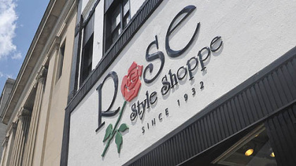 The renovated front of the Rose Style Shop. The shop moved to Ligonier Street in 1945.