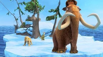 "In ""Ice Age: Continental Drift,"" Diego is voiced by Denis Leary, left, Sid by John Leguizamo and Manny by Ray Romano."