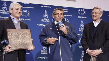 Penn State President Graham Spanier, Athletic Director Tim Curley and late head football coach Joe Paterno.
