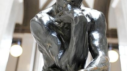 The Thinker bronze cast sculpture is seen at the Rodin Museum in Philadelphia.
