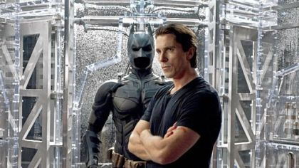 "Christian Bale portrays Bruce Wayne and Batman in ""The Dark Knight Rises."""