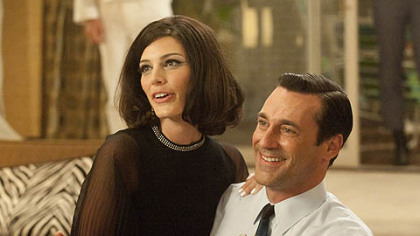 "Jessica Pare, Jon Hamm in ""Mad Men."""