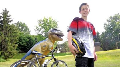 Make-A-Wish recipient and cancer survivor Zack Abel, 13, of Franklin Park, is organizing a Make A Move 5-mile bike walk/ride Aug. 19 in North Park to benefit the Make-A-Wish Foundation.
