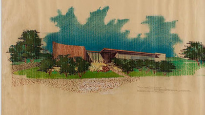 Another drawing by Neutra of the Uniontown home.