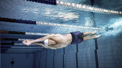 U.S. Olympic champion Michael Phelps uses gear from Speedo's Fastskin3 swimwear line.