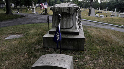 A prominent grave marker for Baltimore native Commodore Joshua Barney has been erected in Allegheny Cemetery in Lawrenceville. It&#039;s been provided by the Col. John Eager Howard Chapter of the Maryland Society of the Sons of the American Revolution.