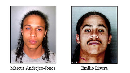 Emilio Rivera, 27, of McKees Rocks, and Marcus Andrejco, 19, of Rankin, are charged with attempted homicide, robbery and aggravated assault for the April 4, 2011, incident on Miller Avenue in Clairton.