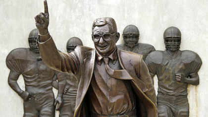 The Joe Paterno statue was removed from Penn State's campus over the weekend.