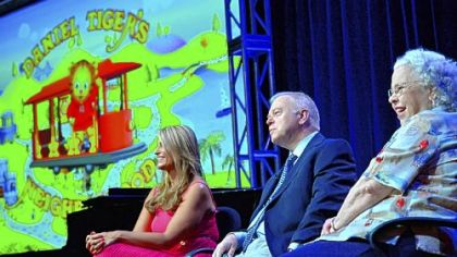 &quot;Daniel Tiger&#039;s Neighborhood&quot; executive producers Angela Santomero and Kevin Morrison were joined by Joanne Rogers, widow of Fred Rogers, to discuss the new series that debuts Sept. 3 on PBS